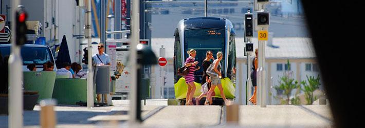 Accessibilité aux transports pour Brest, Tramway, Bus, téléphérique