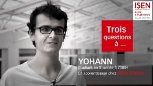 Yoann étudiant en apprentissage à l'ISEN élève de 5eme année