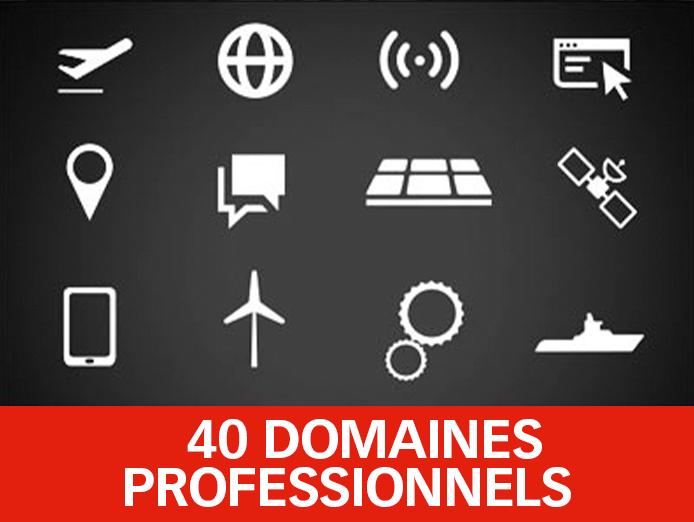 40 Domaines professionnels